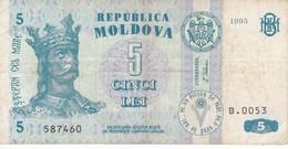 BILLETE DE MOLDOVA DE 5 LEI DEL AÑO 1995 (BANKNOTE) - Moldova