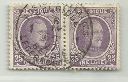 (519) Timbre Belgique Roi Albert I   N° 198 - 25c - 1922-1927 Houyoux