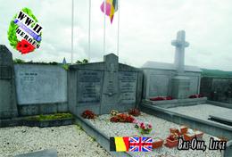 Carte Postale, Militaria, Cemetery, World War II Cemeteries, Belgium (Liège), Bas-Oha Communal Cemetery - Cimetières Militaires