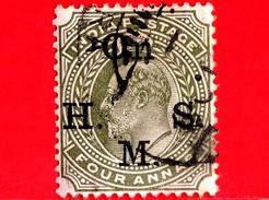INDIA - Usato - 1902 - Servizio - Sovrastampato 'On H.M.S.' - Re Edward VII - 4 - India (...-1947)