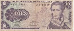 BILLETE DE VENEZUELA DE 10 BOLIVARES DEL AÑO 1981  (BANK NOTE) - Venezuela