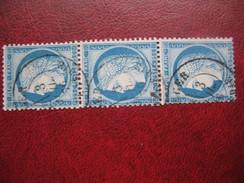 Ceres N° 60 Bande De 3 Oblitere Cachet A Date Alger 1876 - 1871-1875 Cérès