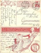 "PK 49  ""Weltpostdenkmal Bern""  Thun - Oconomowoc USA            1909 - Entiers Postaux"