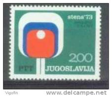 YU 1973-1505 STENS TABLE TENIS, YUGOSLAVIA, 1v, MNH