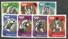 """Ungarn 2847-53A """" Satz Mit 7 Briefmarken Kpl. Zu Medaillengewinner Der Olympiade München ´72"""" Postfrisch Mi.:4,00 €"""