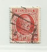 (554) Timbre Belgique Roi Albert I   N°199 - 30c - 1922-1927 Houyoux