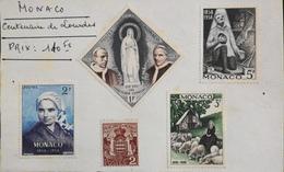 Centenaire De Lourdes - Très Bon Etat - Monaco