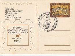 55824- BYDGOSZCZ PHILATELIC EXHIBITION, WARSAW CASTLE, POSTCARD STATIONERY, 1972, POLAND