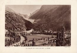 LA VALLEE DU GAVE DE PAU, A GEDRE, Planche Densité = 200g, Format 20 X 29 Cm, (E. Vignes) - Géographie