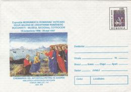 55856- THE CALLING OF ST PETER AND ST ANDREW, PAINTING, CHRISTIANITY, COVER STATIONERY, 1996, ROMANIA