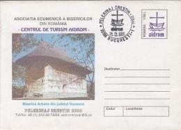 55881- SUCEAVA ARBORE CHURCH, ARCHITECTURE, COVER STATIONERY, 2000, ROMANIA