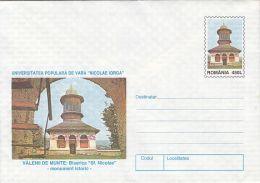 55882- VALENII DE MUNTE ST NICHOLAS CHURCH, ARCHITECTURE, COVER STATIONERY, 1997, ROMANIA