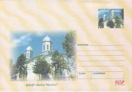 55884- GALATI MAVROMOL CHURCH, ARCHITECTURE, COVER STATIONERY, 2002, ROMANIA