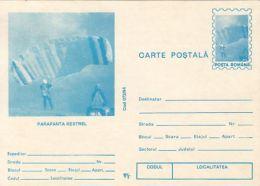 55907- KESTREL SKY GLIDER, PARACHUTTING, POSTCARD STATIONERY, 1994, ROMANIA