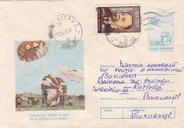 55912- SOVERTH PARACHUTE, PARACHUTTING, COVER STATIONERY, 1996, ROMANIA