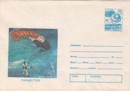 55913- PARACHUTTING, COVER STATIONERY, 1993, ROMANIA
