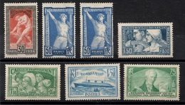 AZ-68: FRANCE:  Lot Neufs SANS GOMME N°185-186(2)-252b-269-300-3036