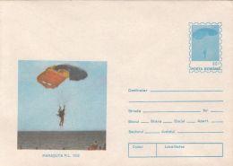 55915- R.L. 12/2 PARACHUTE, PARACHUTTING, COVER STATIONERY, 1994, ROMANIA