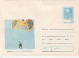 55916- U.T. 15 PARACOMANDER PARACHUTE, PARACHUTTING, COVER STATIONERY, 1994, ROMANIA