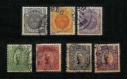 SVEZIA 1910 - National Coat/King Gustav V - YV: SE 55-61