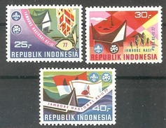 INDONESIA  Scouts Set 3 Stamps  MNH