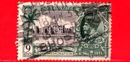 INDIA - Usato - 1935 - Re George V - Silver Jubilee - Victoria Memorial, Calcutta - 9 - 1911-35 Roi Georges V