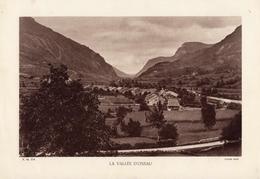 PYRENEES, LA VALLEE D'OSSAU, Planche Densité = 200g, Format 20 X 29 Cm, (Coué) - Géographie
