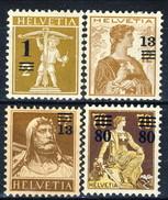 Svizzera 1915 Serie N. 145-148 MNH E MLH Cat. € 50 - Nuovi