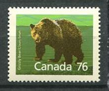 193 CANADA 1989 - Yvert 1082 - Ours Brun -  Neuf ** (MNH) Sans Trace De Charniere