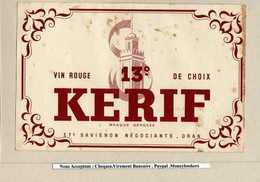 BUVARD :Vin Rouge KERIF Oran - Liquor & Beer