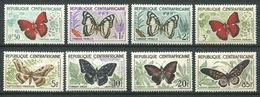 193 CENTRAFRICAINE (Rep) 1960/61 - Yvert 4/11 - Papillon -  Neuf ** (MNH) Sans Trace De Charniere