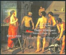 2000 Sierra Leone Velazquez Pittori Paintings Peintures Block MNH** Sie89 - Sierra Leone (1961-...)