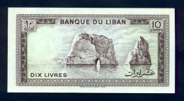 Banconota Libano 10 Livres 1964-86 FDS - Libano