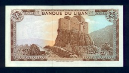 Banconota Libano 25 Livres 1964-83 FDS - Libano