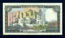 Banconota Libano 50 Livres 1964-88 FDS - Libano