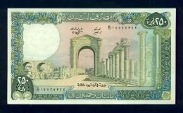 Banconota Libano 250 Livres 1978-88 FDS - Libano