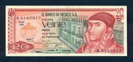 Banconota Messico 1977 20 Pesos FDS - Messico