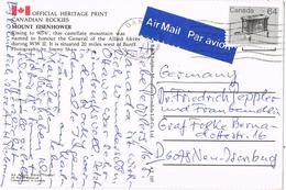 23261. Postal Aerea BANFF (Alberta) Canada 1983. Mount Eienhower