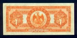 Banconota Messico El Banco Del Estado De Chihuahua 5 Pesos 12/12/1913 - Messico