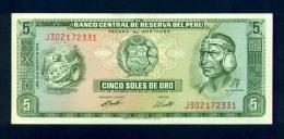 Banconota Perù 5 Soles De Oro 1974 FDS - Pérou
