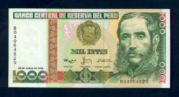 Banconota Perù 1000 INTIS 1988  FDS - Pérou