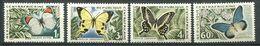 193 CENTRAFRICAINE (Rep) 1963 - Yvert 31/34 - Papillon -  Neuf ** (MNH) Sans Trace De Charniere