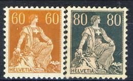 Svizzera 1916 - 22  N. 165 C. 50 E N. 166 C. 80 Carta Ordinaria MNH Centratura Perfetta Cat. € 140 - Nuovi