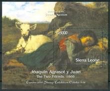 2000 Sierra Leone Joaquin Agrasot Y Juan Pittori Paintings Peintures Block MNH** Sie90 - Sierra Leone (1961-...)