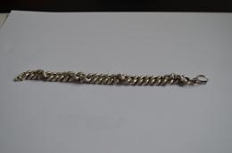 Bracelet Argent Ancien Chaine De Montre 14,56g