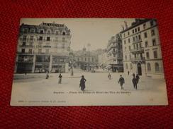 GENEVE  -  Place Du Rhône Et Hôtel De L'Ecu De Genève - GE Geneva