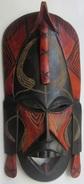 Kenya Masque Décoratif 17 Cm X 35 Cm Djambo - Art Africain