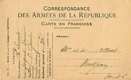 A-17-3496 : CORRESPONDANCE DES ARMEES DE LA REPUBLIQUE - Marcophilie (Lettres)