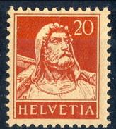 Svizzera 1924 - 28 N. 203A C. 20 Carminio Carta Goffrata MVLH Cat. € 25 - Nuovi