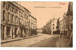 14607    CPA   REMIREMONT  ; La Grande Rue  1927  ( écrite )   ACHAT DIRECT !! - Remiremont